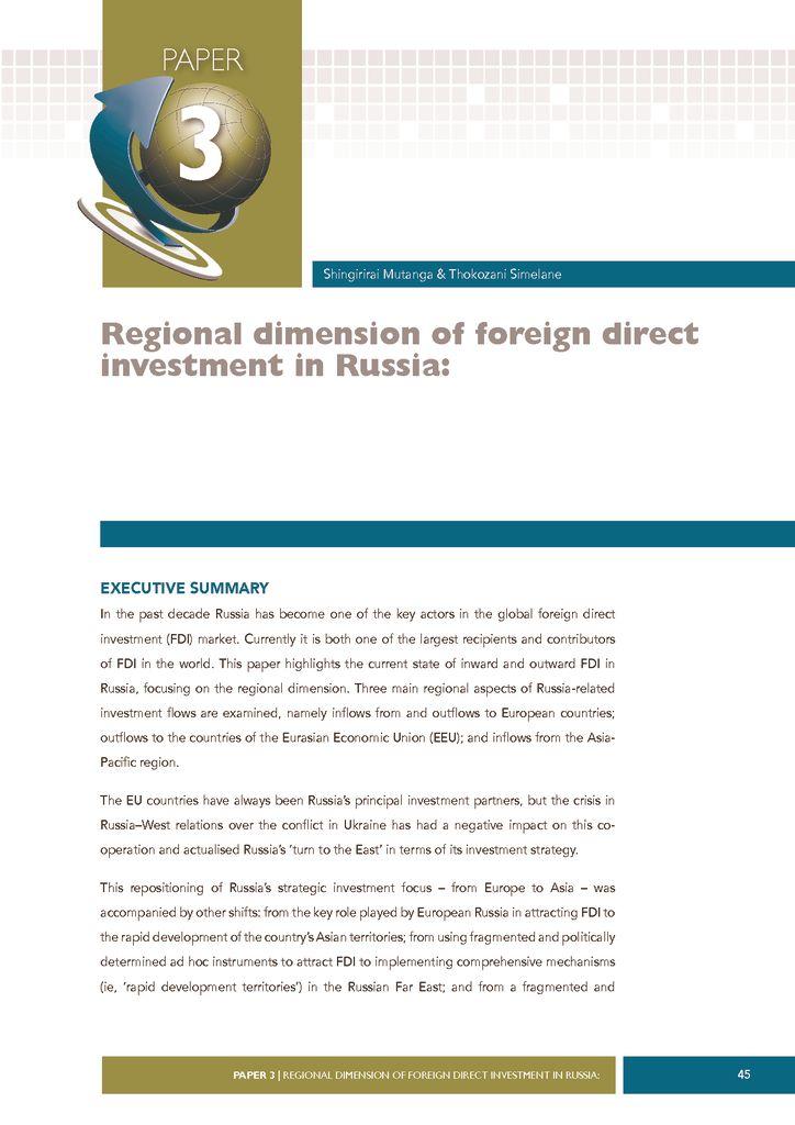 thumbnail of Regional-Dimensions-of-FDI-in-Russia