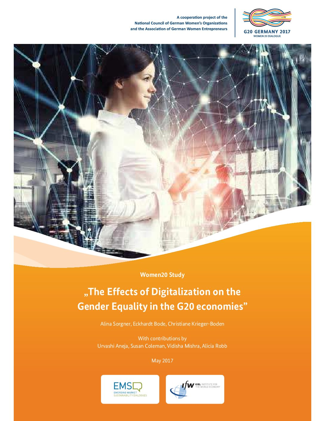 """Update: Full Version of W20 Study """"The Effects of Digitalisation on Gender Equality in the G20 Economies"""" Released"""