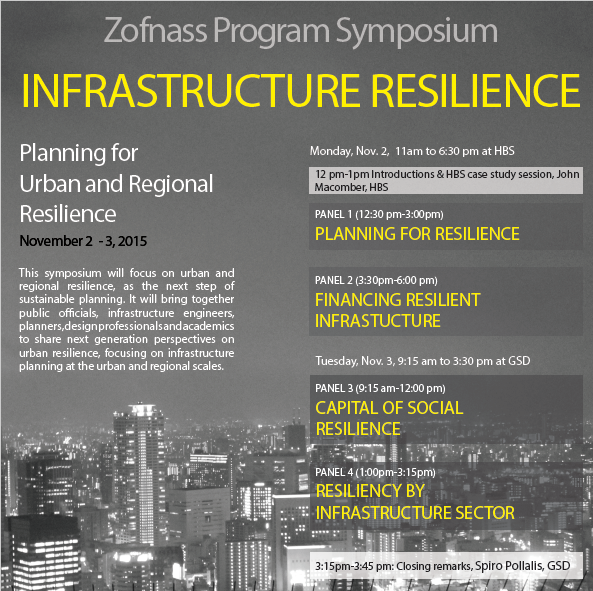 Zofnass Program Symposium: Infrastructure Resilience - Planning for Urban and Regional Resilience