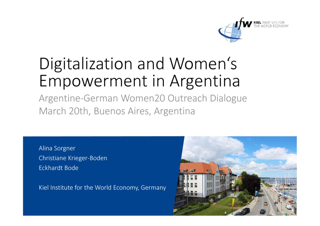 Women20 Argentina: Launch and Event on Digitalisaton