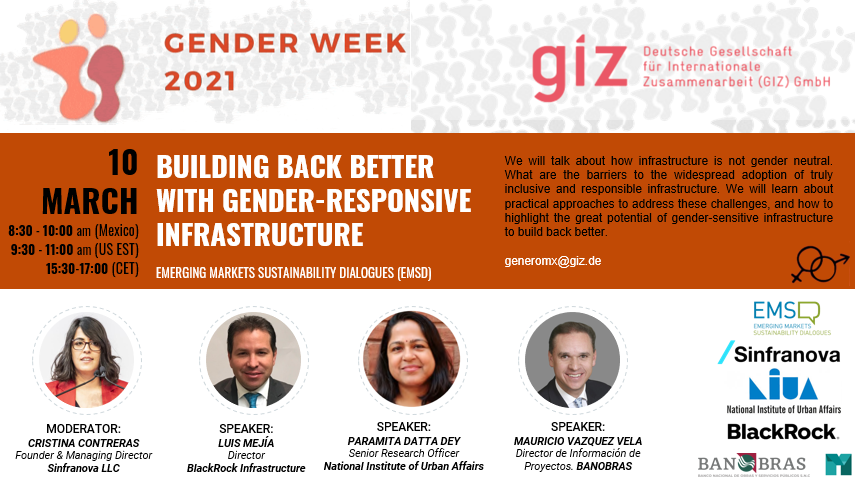 Building Back Better With Gender-Responsive Infrastructure - GIZ Gender Week 2021